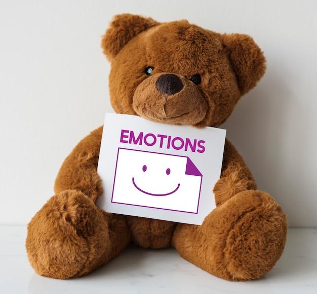 Emoções emoticons de rosto sorridente e felicidade