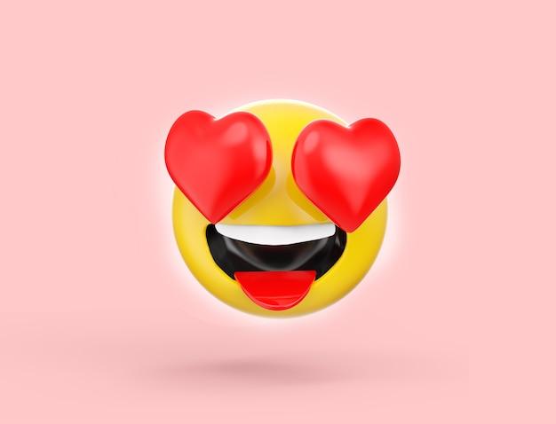 Emoji 3d de se apaixonar