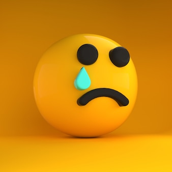 Emoji 3d muito triste