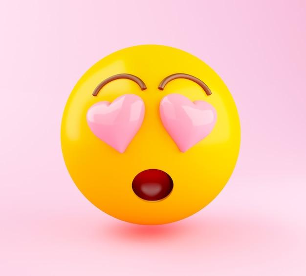 Emoji 3d no amor.