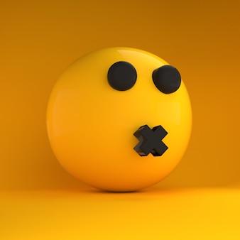 Emoji 3d silenciado