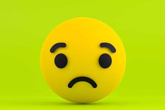 Emoji de reações do facebook, símbolo de balão de mídia social com padrão de ícones do facebook