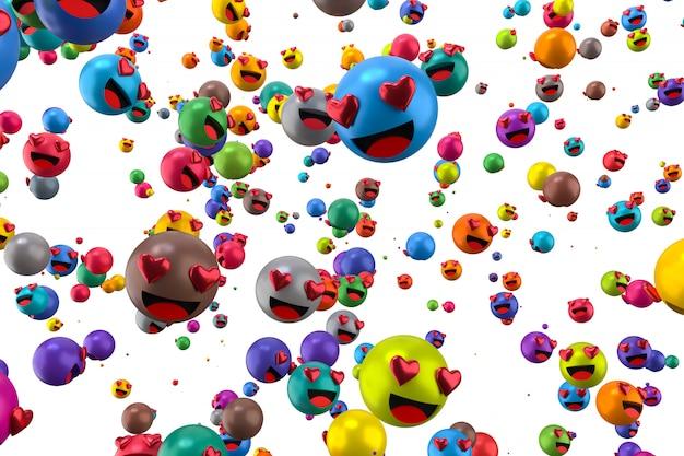 Emojis de reação do facebook Foto Premium
