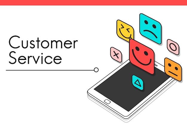 Emoticons de smiley de feedback de avaliação do cliente