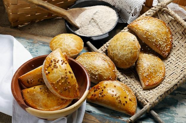 Empanada com farinha integral