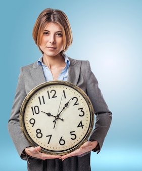 Empregado executivo luz hora do sexo feminino