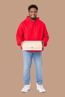 Empregos e conceito de carreira para entregadores de pizza