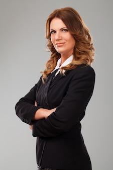 Empresária caucasiana atraente