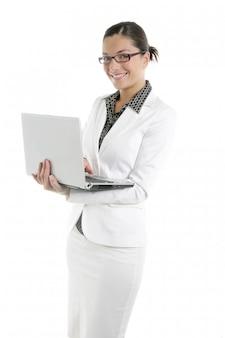 Empresária moderna com terno branco