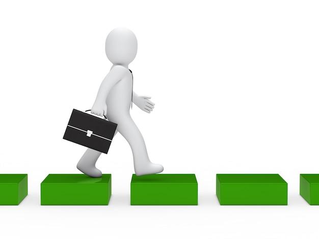 Empresário andar por um caminho verde