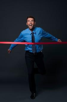 Empresário atingiu seus objetivos de negócios