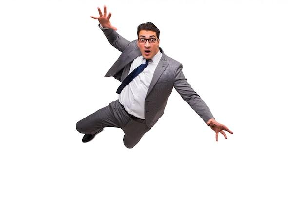 Empresário caindo isolado