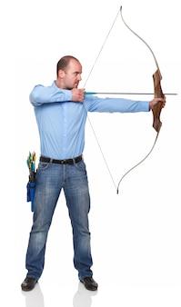 Empresário com arco