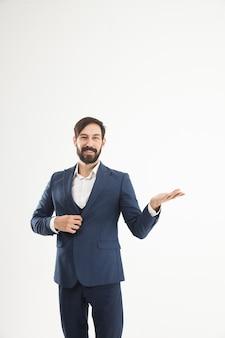 Empresário confiante em um terno de negócios.
