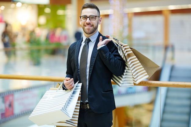 Empresário de compras