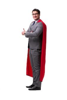 Empresário de super herói isolado