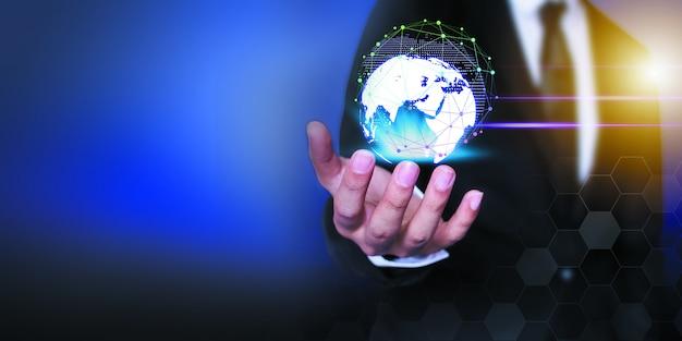 Empresário de tecnologia de rede e comunicação