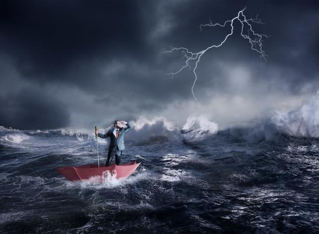 Empresário em crise