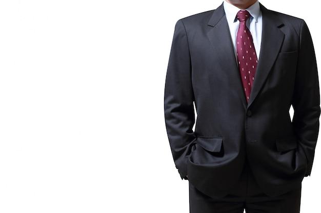 Empresário isolado no fundo branco. conceito para o negócio