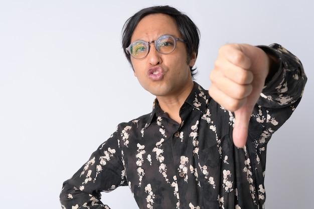 Empresário japonês em branco
