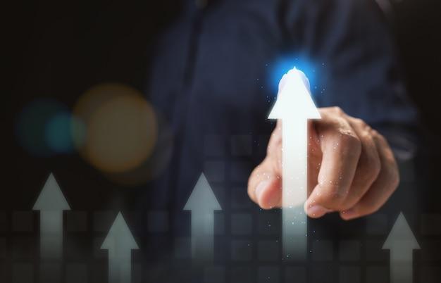Empresário motivado para ser líder de mercado e o melhor