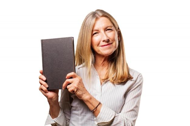 Empresário mulher elegante retrato envelhecido