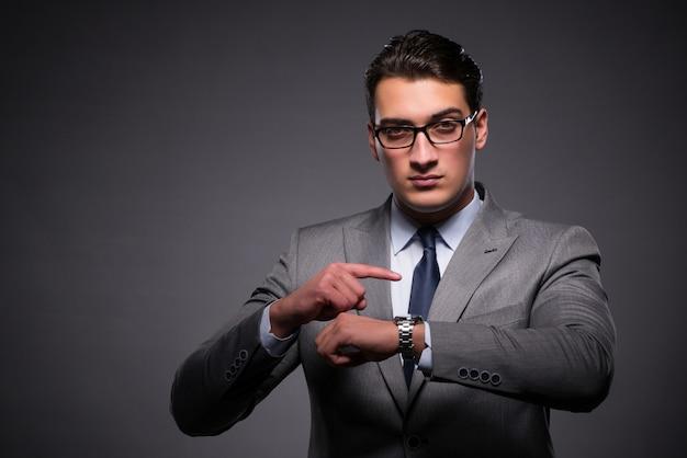 Empresário no conceito de gestão de tempo