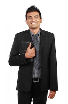 Empresário sorridente bonito