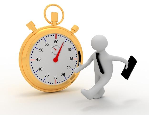 Empresário trabalhando contra o tempo