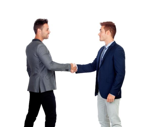 Empresários concordando