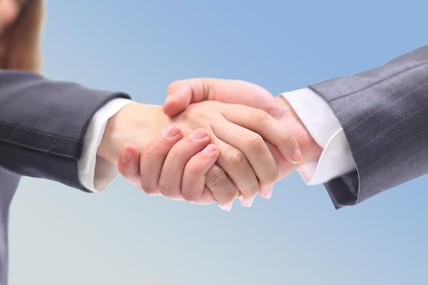 Empresários de aperto de mão