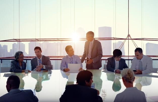 Empresários em reunião