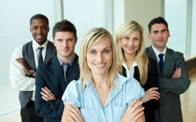 Empresários encabeçados por uma mulher