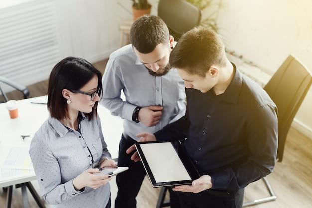 Empresários no escritório