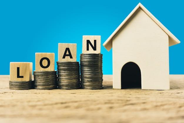 Empréstimo à habitação, hipoteca, seguro de casa, hipoteca financeira para o conceito de casa.