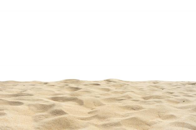 Encalhe a textura da areia cortada no fundo branco.