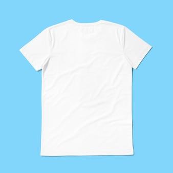 Encha a vista em volta da camisa de gola t isolada sobre fundo azul. adequado para o seu projeto de design.