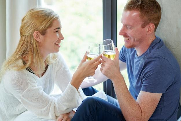 Encontro romântico em casa