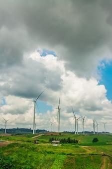 Energia alternativa, com, areje turbina
