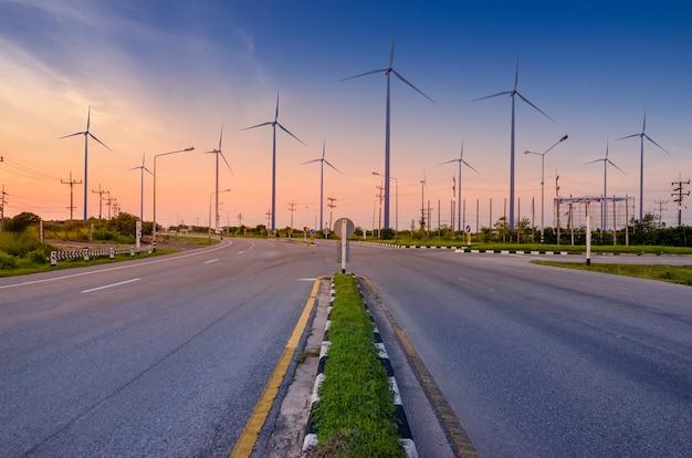Energia de turbina eólica geração de energia ecológica de energia verde.