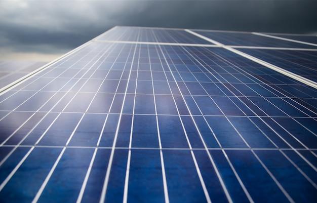 Energia fotovoltaica na energia da central solar a partir de energia natural