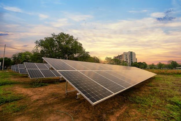 Energia solar gerada na fazenda