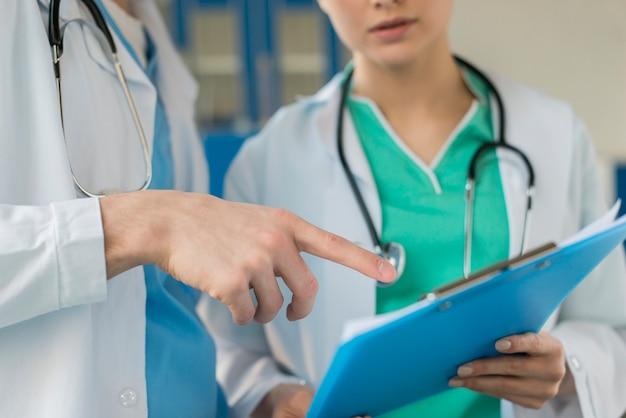 Enfermeiras de close-up, consultoria de transferência