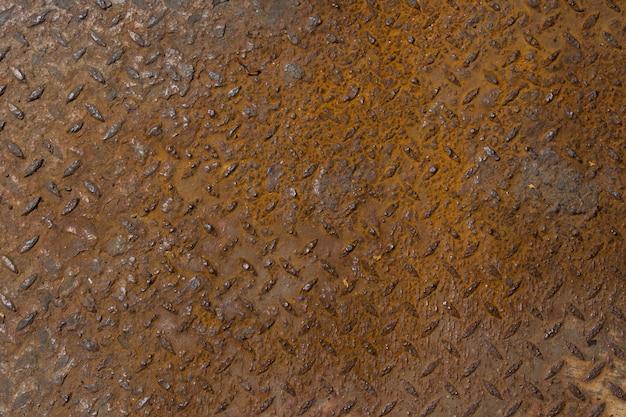 Enferrujado na superfície do antigo fundo de ferro