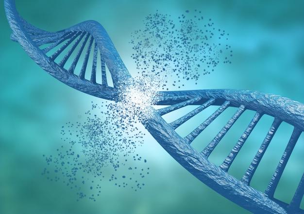 Engenharia e edição genética através da técnica crispr. corrente de dna quebrando