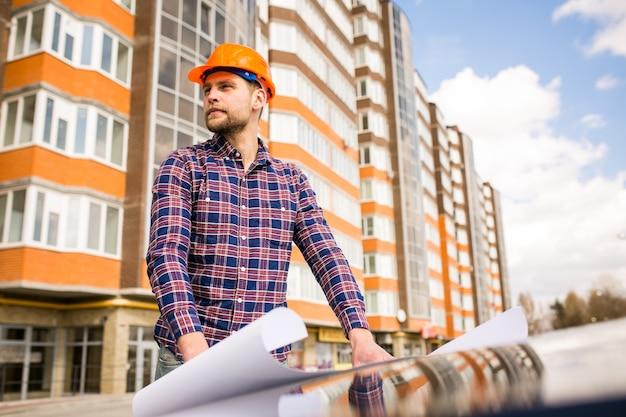 Engenharia homem trabalhador eletricista construção