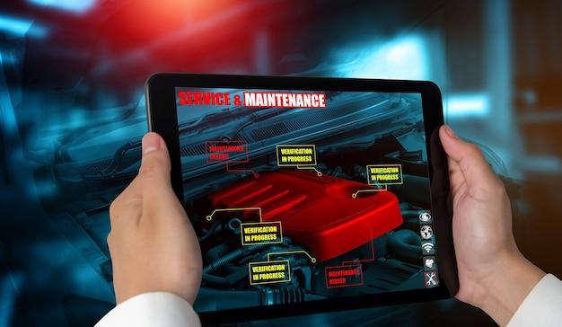 Engenheiro usa software de realidade aumentada para monitorar peças de veículos automóveis