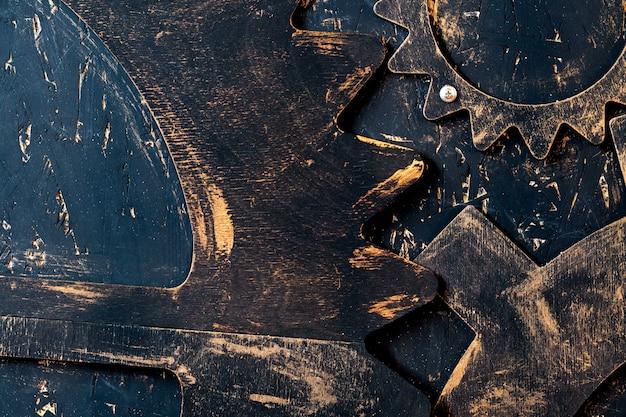 Engrenagens de madeira velhas
