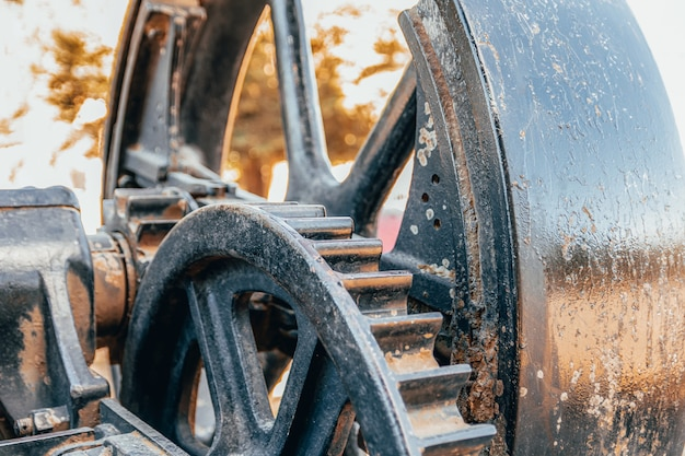 Engrenagens de motor de trator a vapor retrô