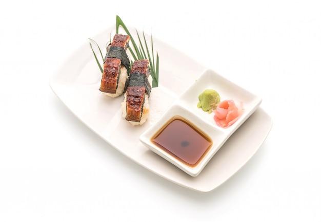 Enguia nigiri sushi - estilo de comida japonesa